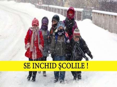 Scolile inchise Vineri 23.03.2018